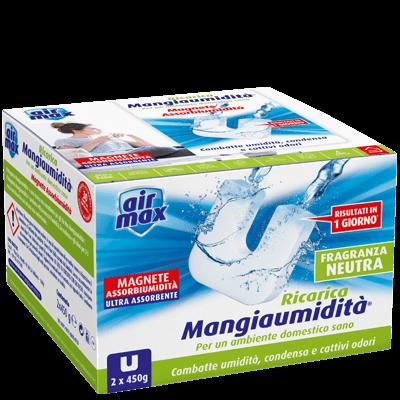 Dispositivo Mangiaumidità 900g + 2 ricariche Magnete 450g