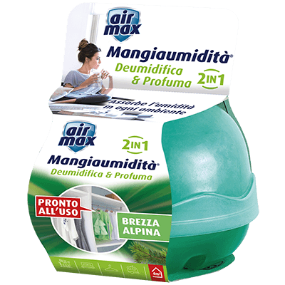 Kit Mangiaumidità Deo Mini Brezza Alpina 40g