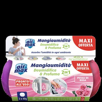 Kit Mangiaumidità Bi-Pack Deo Mini Petali di Rosa 40g