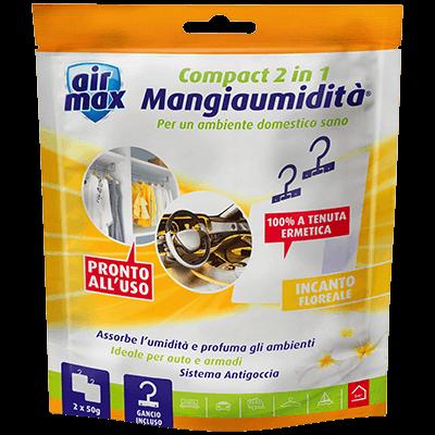 Mangiaumidità appendibile Compact 2 in 1 Incanto Floreale 2x50g