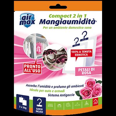 Mangiaumidità appendibile Compact 2 in 1 Petali di Rosa 2x50g