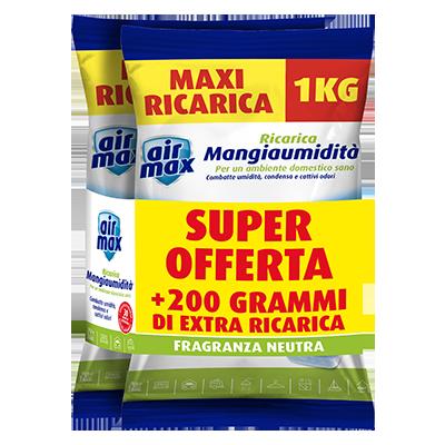 Air Max Mangiaumidità 1 ricarica Neutra 1000g + 1000g