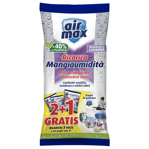 Air Max Mangiaumidità 2 ricariche Lavanda + 1 gratis 1350g